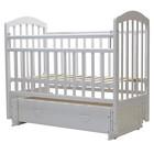 """Кроватка детская """"ЛИРА""""-7 универ.маятн/ящ., 119 х 60 см (белый)"""