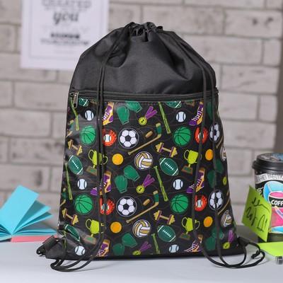 Сумка для обуви, наружный карман на молнии, цвет чёрный/разноцветный