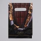 Пакет «Горький шоколад», полиэтиленовый с вырубной ручкой, 20 х 30 см, 30 мкм