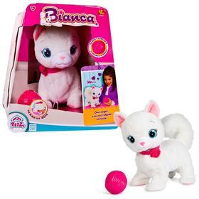 Интерактивная игрушка «Кошка Bianca», выполняет 5 действий, клубок в комплекте