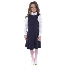 Сарафан для девочки, рост 134-140 см, цвет тёмно-синий AW16-17-CKV-GDR-334