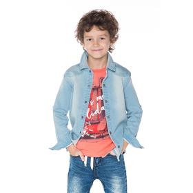 Сорочка для мальчика, рост 110-116 см, цвет светло-голубой SS17-CBN-BSH-529