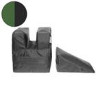Комплект упоров для стрельбы Tplus PRO 2 шт., кордура, экокожа, тёмно-зелёный/чёрный, (T007262)   32