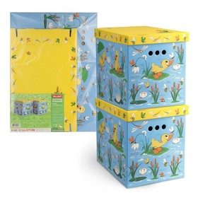 Набор коробов картонных 2 шт, «Утята и лягушата», 28 х 38 х 31,5 см