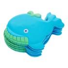 Набор мини-ковриков для ванной 6 шт, «Кит», на присосах, цвет синий