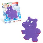 Набор мини-ковриков для ванной 4 шт, «Бегемотик», на присосах, цвет фиолетовый