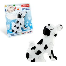 Набор мини-ковриков для ванной 4 шт, «Собачка», на присосах, цвет белый