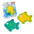 Набор мини-ковриков для ванной 6 шт, «Рыбки», на присосах, цвет МИКС