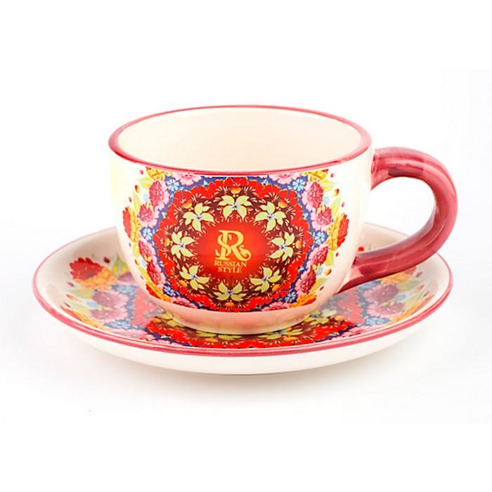 """Чайная пара 220 мл """"Русский Стиль"""""""