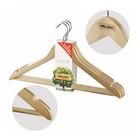 Набор вешалок-плечиков 3 шт, размер 48-50, с антискользящими вставками, цвет бежевый