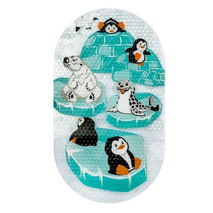 SPA-коврик для ванны «Животные заполярья», 69 х 39 см