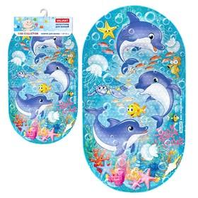 SPA-коврик для ванны «Дельфинчики», 69 х 39 см