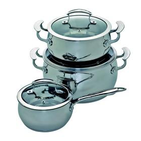 Набор посуды 6 предметов, нержавеющая сталь