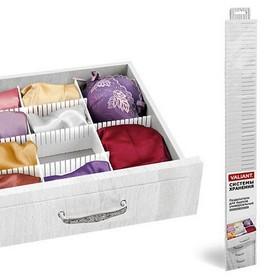 Набор разделителей для ящиков 3 шт, 60 x 8 см, цвет белый