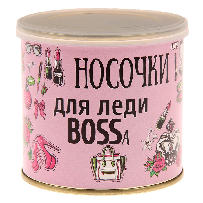 "Носки в банке ""Носочки для леди BOSSa"" (женские, МИКС)"