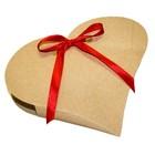 Коробка крафт из рифленого картона, сердце, 18 х 20 х 4 см