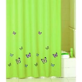 Штора для ванной комнаты 200х200 см green  butterfly