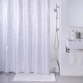 Штора для ванной комнаты 200х180 см, Silver Gauze