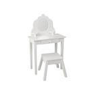 Туалетный столик из дерева для девочки «Модница», цвет белый
