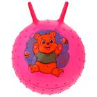 """Мяч прыгун с рожками массажный """"Мишка"""" d=45 см, 350 гр, цвета микс"""