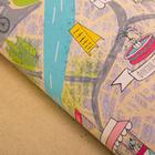 Бумага упаковочная крафтовая «Карта», 50 × 70 см