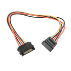 Кабель-удлинитель питания Cablexpert CC-SATAMF-01, SATA(15pin)(m)-SATA(15pin)(f), 0.3 м