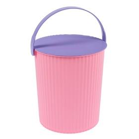 Ведро-стул Solano, 10 л, цвет розовый аметист
