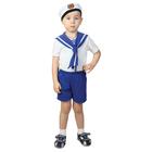 "Карнавальный костюм""Моряк"",фланка, шорты,бескозырка,рост 74-80"