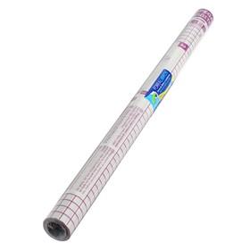 Плёнка самоклеящаяся прозрачная бесцветная для книг и учебников, ОТКЛЕИВАЕМАЯ, 0.50 х 3.0 м, 80 мкм, Sadipal