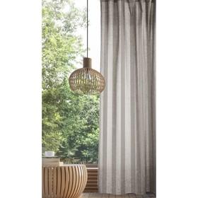 Комплект штор, размер 165х270 см - 2 шт., цвет экрю полоска, рогожка