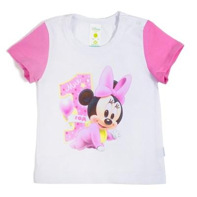 """Футболка детская Disney baby """"Минни"""", рост 74-80см (26) 9-12 мес"""