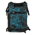 Рюкзак молодежный эргономичная спинка Target Glow in the dark blue 50*30*21, чёрный/голубой