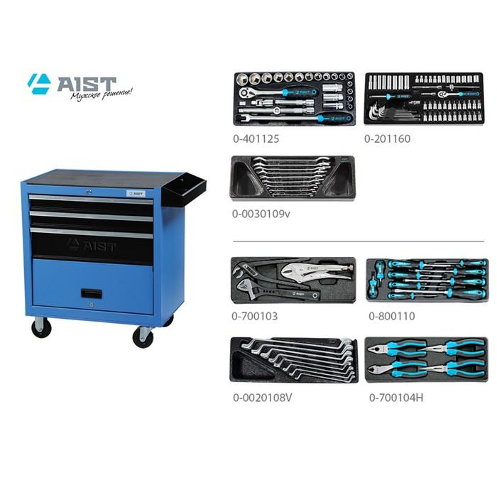 Тележка инструментальная AIST, 90003204, с инструментом, 119 предметов