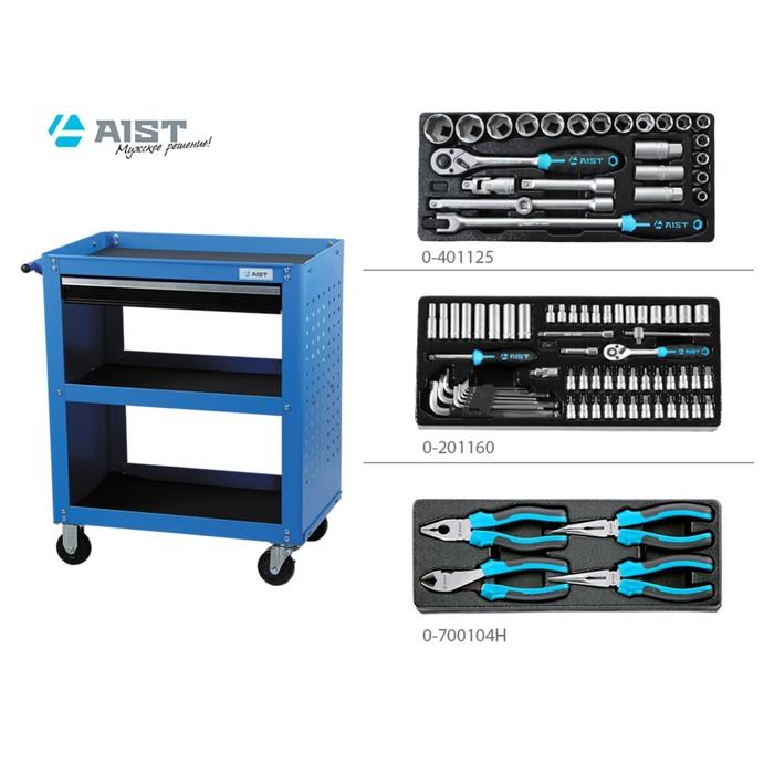 Тележка инструментальная AIST, 90003504, с инструментом, 89 предметов