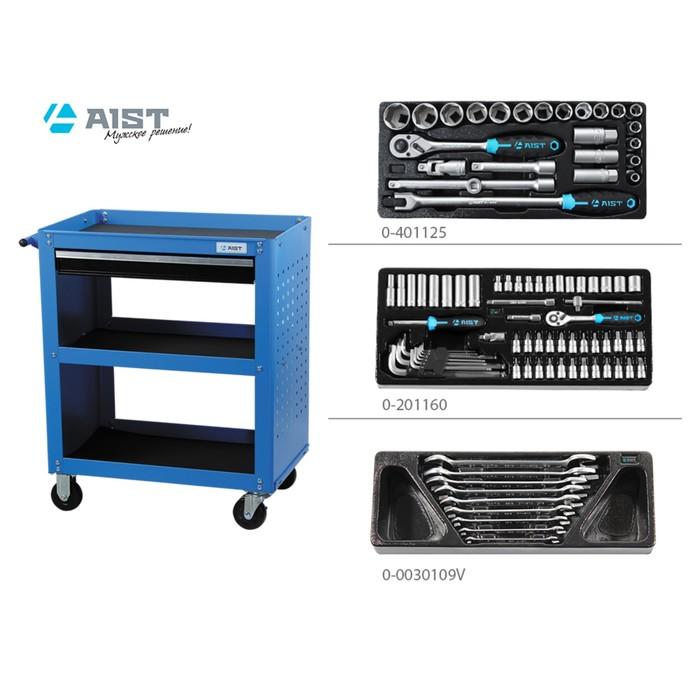 Тележка инструментальная AIST, 90003504, с инструментом, 94 предмета