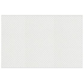 Панель перфорированная ХДФ  Глория Белый 680х1000х3 мм Ош