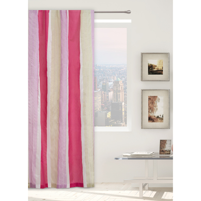 "Tulle ""Ethel"" pink 140х280 Gamma (vertical bar) W/o weighting, 100% p/e"