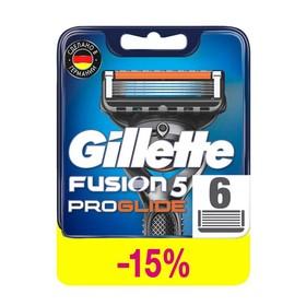 Сменные кассеты Gillette Fusion ProGlide, 5 лезвий, 6 шт