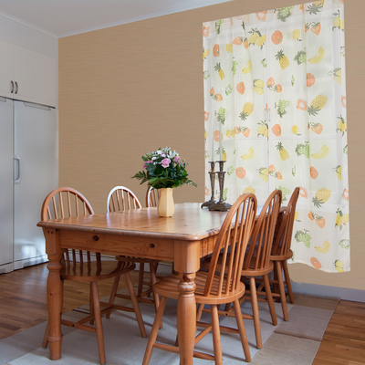 "Curtains for the kitchen ""Ethel"" Pineapples 130х180 cm, 100% p/e"