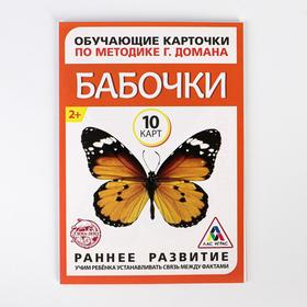 Обучающие карточки по методике Г. Домана «Бабочки», 10 карт, А6