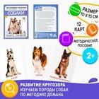Обучающие карточки по методике Г. Домана «Собаки»