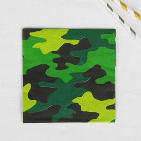 Салфетки бумажные «Камуфляж», 25х25 см, набор 12 шт. в Донецке