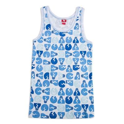 Майка для мальчика, рост 134 см, цвет голубой