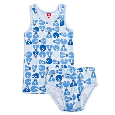 Комплект для мальчика (майка, трусы), рост 122-128 см, цвет голубой CAK 3332