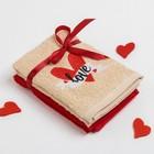 """Набор полотенец """"Love"""" 30х30 - 2 шт., 100% хл., 340 гр/м2"""