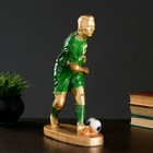 """Фигура """"Футболист №5"""" бронза с зелёным, 35см"""