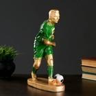 """Статуэтка """"Футболист №5"""" бронза с зелёным, 40см"""