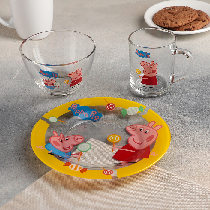 """Набор посуды """"Свинка Пеппа. Леденцы"""", 3 предмета"""