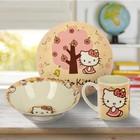 Набор посуды 3 предмета Hello Kitty