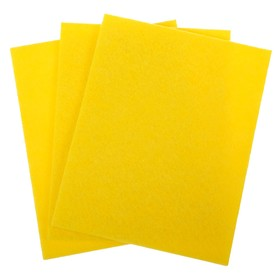 Napkins for cleaning viscose, 30 x 38 cm FM /70, 3 PCs, color: yellow